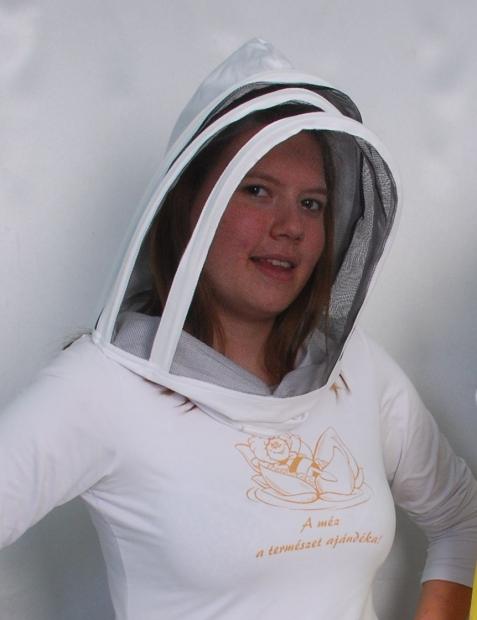 Csuklyás méhészsapka ruhára zippzározható
